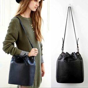 NWOT UO Cooperative black structured bucket bag
